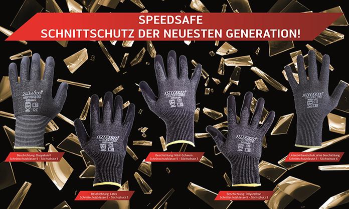 Schnittschutzhandschuhe Speedsafe Black CUT 5 höchster Schnittschutz