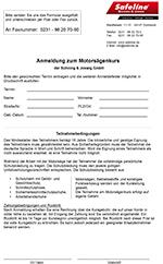 Anmeldung Motorsägen / Kettensägen Seminar Schulung Dortmund