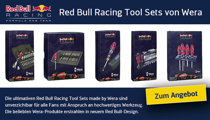 Angebot Redbull Racing Tools von Wera