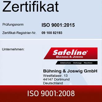 ISO Zertifikat 9001:2008