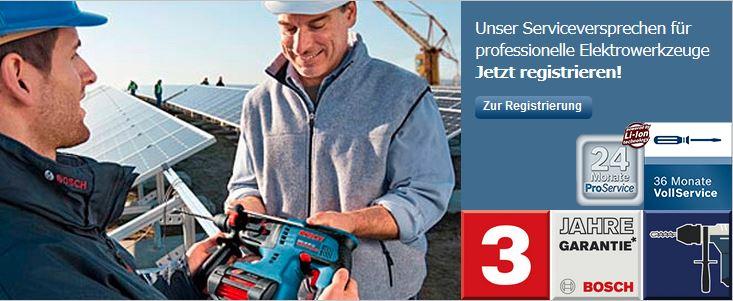 Bosch Garantie